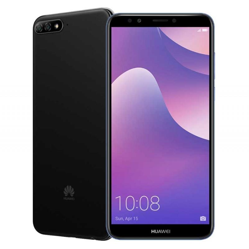 TÉLÉPHONE PORTABLE HUAWEI Y7 PRIME 2018 / 4G / DOUBLE SIM / NOIR + SIM OFFERTE