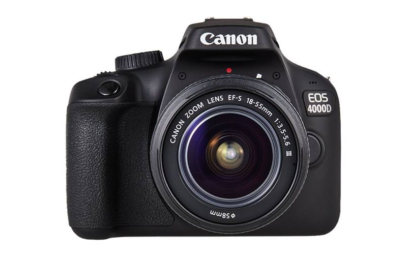 Appareil Photo Reflex CANON EOS 4000D + Objectif 18-55mm DC Noir